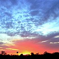 City On A Hill - Americus, Ga Sunset by Jerry Battle