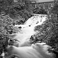 Amesbury Ma Waterfall Powwow River Le Black And White by Toby McGuire