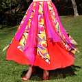 Ameynra Belly Dance Fashion - Multi-color Skirt 93 by Sofia Metal Queen