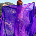 Ameynra Belly Dance. Purple Veil by Sofia Metal Queen