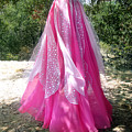 Ameynra Design - Pink-white Petal Skirt 146 by Sofia Metal Queen