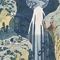 Amida Waterfall by Hokusai