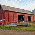 Amish Barn At Sunrise by Marcia Colelli