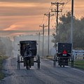 Amish Buggy Sunday Morning by David Arment