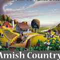 Amish Country T Shirt - Appalachian Blackberry Patch Country Farm Landscape by Walt Curlee