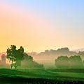 Amish Farm Sunrise by Bill Cannon