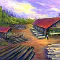 Amish Lumbermill by Gail Kirtz