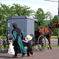 Amish Mother And Son by George Jones