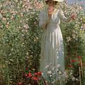 Among The Flowers by Robert Payton Reid