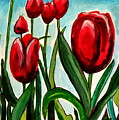 Among The Tulips by Elizabeth Robinette Tyndall