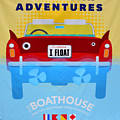 Amphicar Adventure Sign by David Lee Thompson