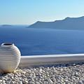 Amphora In Santorini, Greece by Oana Unciuleanu