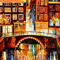 Amsterdam - Little Bridge by Leonid Afremov