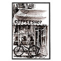 Amsterdam Coffe Shop Black And White by Georgi Charaka