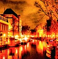 Amsterdam Night Life L A S by Gert J Rheeders