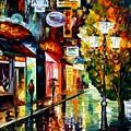 Amsterdam Night Rain by Leonid Afremov