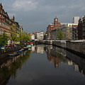 Amsterdam - Singel Canal With The Floating Flower Market by Georgia Mizuleva