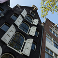 Amsterdam Spring - Arched Windows And Shutters - Right by Georgia Mizuleva