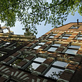 Amsterdam Spring - Fancy Brickwork Glow - Right Horizontal by Georgia Mizuleva