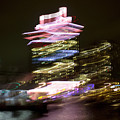Amsterdam The Netherlands A'dam Tower Abstract At Night. by Richard Wareham