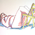 Bonnie And Chair by James Christiansen