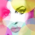 Amy Portrait Pink Yellow  by Enki Art