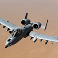 An A-10 Thunderbolt II Over The Skies by Stocktrek Images