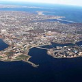 An Aerial View Of Naval Station Newport by Celestial Images