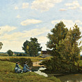 An Afternoon Along The Loing Near Saint-prive by Henri-Joseph Harpignies