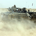 An Amphibious Assault Vehicle Kicks by Stocktrek Images