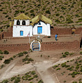The Ancient Church At  Machuca In The Atacama Desert by Kenneth Lempert