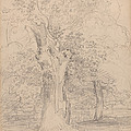 An Ancient Tree With Figures In A Landscape by Friedrich Salath?