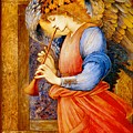 An Angel Playing A Flageolet by Celestial Images