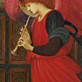 An Angel Playing a Flageolet by Sir Edward Burne-Jones