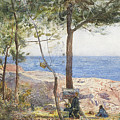 An Artist Painting By The Sea by John William Inchbold