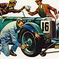An Aston Martin Racing Car, Vintage 1932 by Peter Jackson
