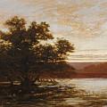 An Australian Mangrove. Ebb Tide by William Charles Piguenit