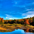 An Autumn Day At The Green Bridge by David Patterson