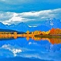 An Autumn Morn At Oxbow Bend by Don Mercer