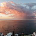 An Early Morning View From A Balcony In Positano, Campania, Ital by Lionel Everett