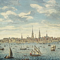 An East Prospective View Of The City Of Philadelphia by George Heap