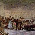 An Egyptian Feast by Edwin Longsden Long