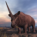 An Elasmotherium Grazing by Walter Myers