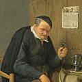 An Elderly Man Seated Holding A Wineglass by Adriaen van Ostade