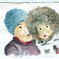An Eskimo Mother And Child by Arlene  Wright-Correll