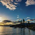 An Evening At The Lake by Jyoti Suravarjula