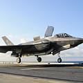 An F-35b Lightning II Lifts by Stocktrek Images