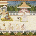 An Illustration Depicting Maharaja Ajit Singh Instructing A Scribe by Celestial Images