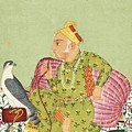 An Illustration Depicting Raja Sardar Singh Looking Beyond His Falcon by Celestial Images