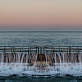 An Imagined Symmetrical Seawall As A Wave Tops It by Thomas Morris